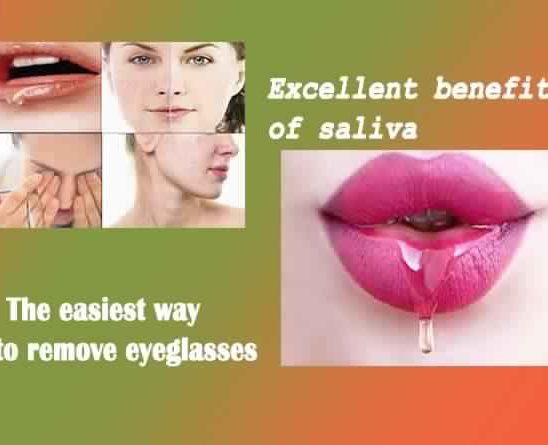 Saliva benefits for eyes and skin